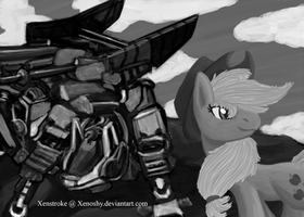 Applejack / Command Wolf by Xenstroke