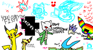 iScribble doodles lolol by star-byte