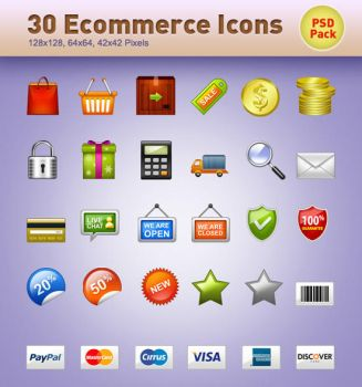 30 E-Commerce Icons PSD by vesperTiLo