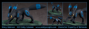 Commission : Shiny Umbreon by emilySculpts