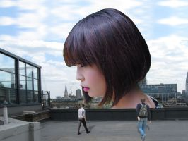 Seeing The Giantess In The City by MalayGiantess