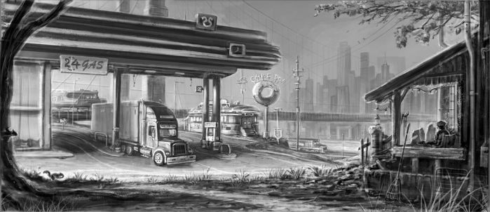 Gas Station by 28crucis