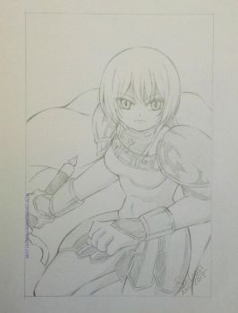 FanArt Pencil - Claire (Claymore) by Saicross