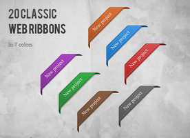 20 Classic Web Ribbons by watracz