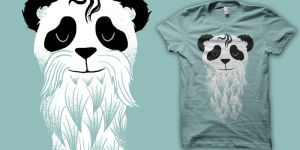 panda beard shirt by biotwist
