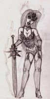 Lady Death sketch 2 by Captain-Torr