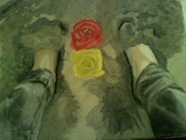 Flowers sand and bare feet by lopezgdlp