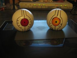 GLaDOS shoulder cores by Wolf-Shadow77