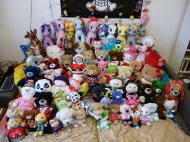 My huge Build a Bear Collection by kratosisy