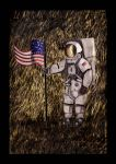 Spaceman with Flag. by Herbie91