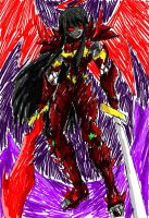 Tyler Armored In Complete Death Angel Form by amyroseater