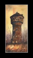 Water tower in Zabrze by sanderus
