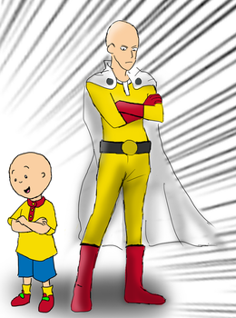 Caillou grew up right. One punch man by HaxGodJet