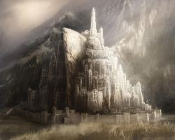 Minas Tirith Speed Paint by DireImpulse