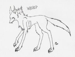 Whikid lineart by Wolf-mutt