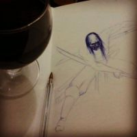 Drinking and drawing by Juliano-Pereira