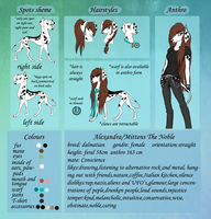 Alexandra reference sheet by MittensTheNoble