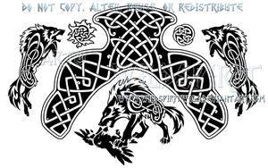 Fate Of The Gods Ragnarok Knotwork Design by WildSpiritWolf