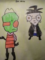 Zim and Dib X3 by MewMewMinto1123