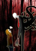 Slenderman and Masky by simotaku