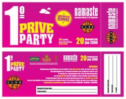 invitation for a PRIVE PARTY by alexbipbip