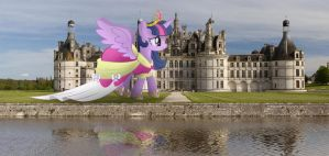 Wallpaper: Giant Alicorn Princess Twilight Sparkle by darkoverlords