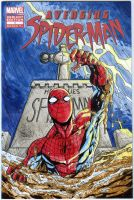 Spiderman sketch cover commission by mdavidct