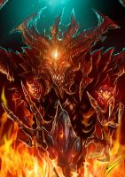 Diablo III fan art: Diablo and Black Soulstone by Chimerum