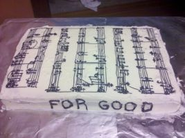 "Wicked ""Sheet"" Music Cake by wickedwitchinc"