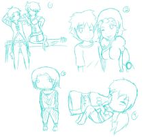 commission and kiriban sketches by Ivy-Desu