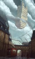 Sky Fortress by KlausPillon