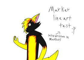 Marker lineart test by Rexart35