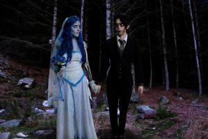 Emily and Victor ~~ Corpse Bride Cosplay by BabiSparrow