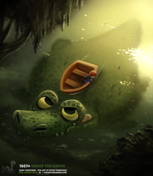 Daily Painting 1667# - Under the Bayou by Cryptid-Creations