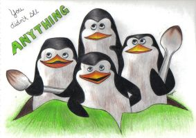 The Madagascar Penguins by llteaniebeanie