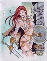RED SONJA by RODEL MARTIN (01042014B) by rodelsm21