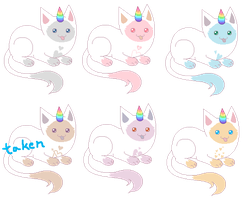 Pastel Siamese Unicats [closed] by unicorngirl1