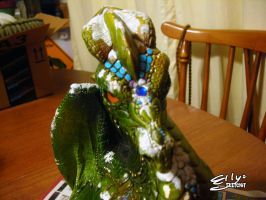 Windstone Green Dragon: Patching Him Up, 2 by ellysketchit