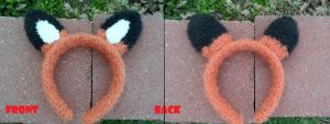 Fox Headband by YarnHoardingDragon