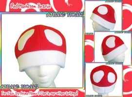 Red and White Mushroom Hat by AnimeNomNoms