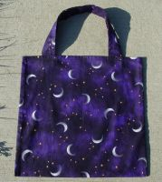 Moons and Stars Tote Bag by LWaite