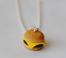 Cheeseburger Necklaces by ClayRunway
