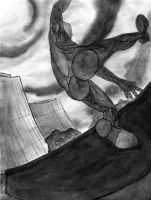 -AP DRAWING-Concentration06 BW by sonicbommer