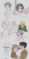 SnK Sketchdump by Fox-Angel2