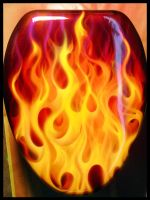 Burning Ring of Fire Seat Lid by hardart-kustoms