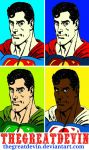 Superman four panel comic print pop art by TheGreatDevin