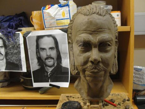 Nick Cave WIP by iamwinterborn
