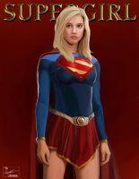 Supergirl digital painting by frostdusk