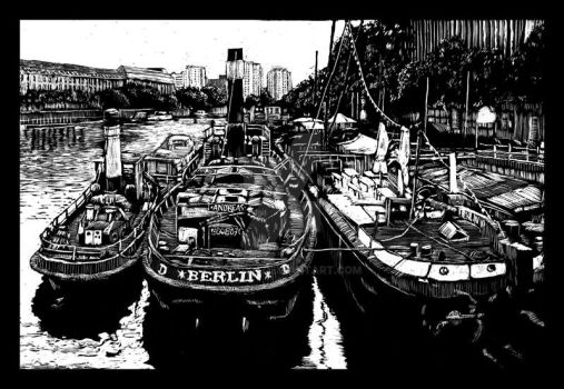 Historical Harbour of Berlin by RoodyN