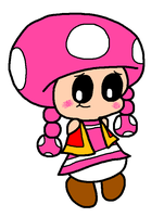 Shy Blushing Toadette by Bomberdrawer